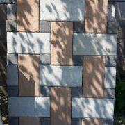 Plăci 40 x 20 x 6 cm Gei și Bej combinate cu pătrate Negre