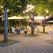 Plăci 20 x 40 x 6 Gri la terasa Hotel Univers T Cluj